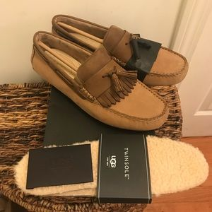 NEW UGG Leather Nubuck MOCCASIN LOAFERS